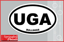 "Georgia Bulldogs ""UGA BULLDOGS"" Euro Style Vinyl Decal Car Truck Window Sticker"