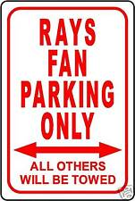 """RAYS FAN PARKING ONLY 12""""x18"""" ALUMINUM SIGN"""
