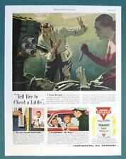 10 X 14 Original 1951 Conoco Oil Ad TELL HER TO CHEAT A LITTLE... USE SUPER OIL