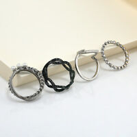 3Pcs Hot Women Above Knuckle Band Midi Mid Finger Top Stacking Split Rings Set
