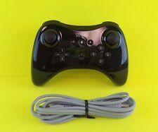 Official Nintendo Wii U Pro Black Wireless Controller & OEM Charge Cord