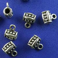 25pcs Tibetan silver 3 holes bar charms h2702