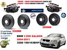 PER BMW 320D E90 berlina 04-11 anteriore post. PERFORMANCE DISCHI FRENO Set +