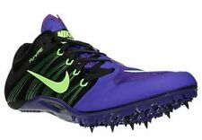 Men's Nike Zoom JA Fly 2 Track Spike Shoes Black / Green / Purple 11 705373 035