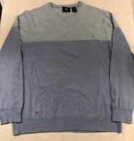 Mens 2XL Calvin Klein 100% Merino Wool Long Sleeve Sweater
