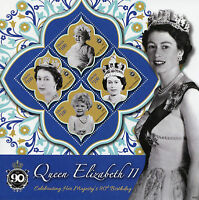 Liberia Royalty Stamps 2016 MNH Queen Elizabeth II 90th Birthday Anniv 4v M/S