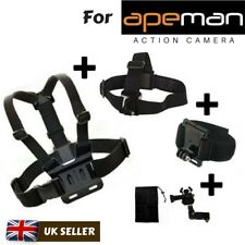3 pcs Accessory Set Chest Head Wrist Strap for Apeman A60 A66 A70 A80 Action Cam