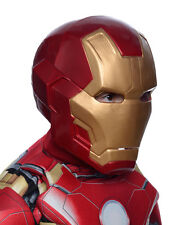 Iron Man Mark 43 Deluxe 2 Piece Mask, Kids Avengers Costume Full Mask, Age 8+