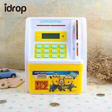 idrop Mini Electronic Money ATM Bank Coin Cash Saving Box Password Yellow