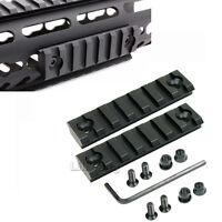 2PCS 7 Slot 3 inch Keymod Rilfe Base Handguard Section Picatinny Weaver Rail