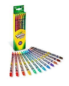 Crayola Twistables Colored Pencil Set, 12 Assorted Colors