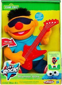Sesame Street Hasbro Playskool Sesame Let's Rock! Strummin' Ernie Plush Toy