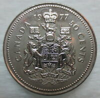 1977 CANADA 50¢ HALF DOLLAR COIN BRILLIANT UNCIRCULATED