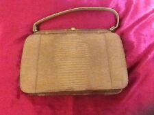 Authentic VTG Palizzio Very New York Brand Brown Reptile Skin Rockabilly Purse
