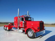 DCP 1/64 SCALE 389 PETERBILT SMALL BUNK RED LONG WHEEL BASE WTI FENDERS