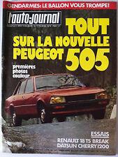 L'AUTO-JOURNAL du 04/1979 Tout sur la nouvelle 505/ Essai R18 TS Break/ Datsun