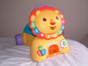 Fisher-Price Lion King Walker - Push Along, Ride Along Car with Horn& Music