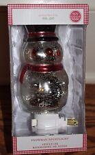 Nib Pottery Barn Kids Mercury Snowman night light lamp Christmas winter