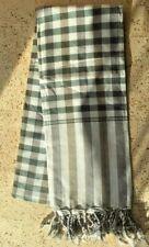 Krama VERT GRIS traditionnel Echarpe Khmère en coton Tissé scarf Cambodge 114
