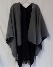 Torrid Poncho Shaw Cape Once size fits all Reversiable Black Gray O/S