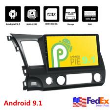 "10.1"" Android 9.1 Car Radio Stereo Gps Wifi 2+32Gb For 2006-2011 Honda Civic Usa"
