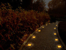 Weatherproof Solar Powered Deck Underground LED Lights Lamp Outdoor Garden Yard