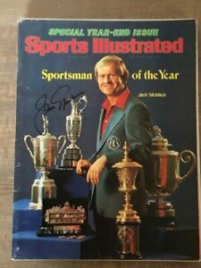 Jack Nicklaus SOY Sports Illustrated Magazine signed autographed LOA Beckett BAS