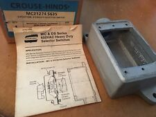 NEW IN BOX, CROUSE-HINDS MC21274 S635 3 POSITION 4 CIRCUIT SELECTOR SWITCH BODY