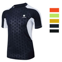 Mens Athletic T-Shirt Sports Casual Short Sleeve Dri-fit Stretchy Breathable Top