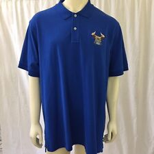 Lands End Mens 2XL H-60 Seahawk Helicopter Blue Short Sleeve Polo Shirt
