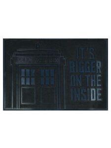 Doctor Who Door Mat Tardis Rubber Doormat Black 60x40cm