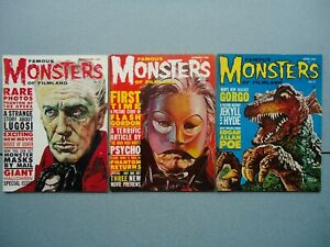 FAMOUS MONSTERS of FILMLAND Magazine 1960-61 Lot of 3: #9 #10 #11 VG- to FN-