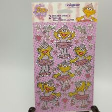 Zoe Ballerina Stickers Prismatic Sesame Street 2 Sheets 2003 USA
