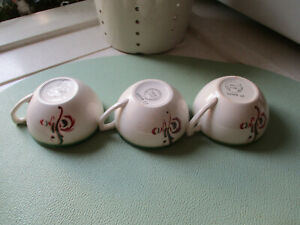 "5 tasses anciennes ""Digoin-Sarreguemines""collection"