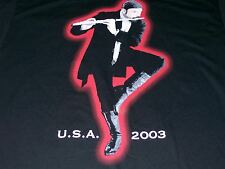 Ian Anderson U.S.A. Tour 2003 M Medium Black T-Shirt Jethro Tull