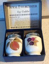 Royal Worcester Fine Porcelain Egg Coddlers Evesham Gold in Box
