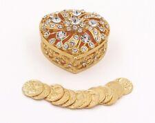 Elegant Gold Rhinestone Heart Wedding Arras Box set Arras de Boda GH01
