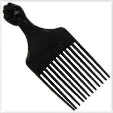Professional Large Black Fist Pik Afro Style Barber Salon Stylists Pick