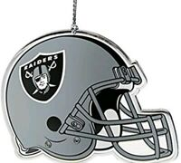 NFL Oakland Raiders Flat Metal Helmet Ornament