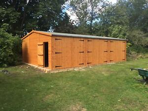 30X20 TIMBER GARAGE - 22mm T/G, GARAGE/WORKSHOP