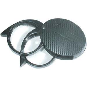 Bausch & Lomb 4X, 5X and 9X (2) Lens Pocket Magnifier Loupe