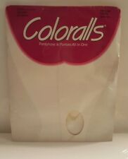 White Ivory Panties Coloralls Pantyhose Size Q Sandalfoot USA Hosiery Vtg 1990