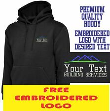 Personalised Embroidered Builder Hoodie BUILDING SERVICES Workwear  UNIFORM