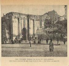 Stampa antica CORFU' KERKYRA veduta Grecia Greece 1893 Old antique print