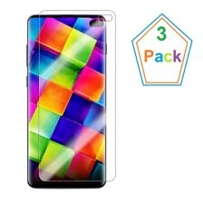 3 PACK Samsung Galaxy S10 Plus /S10+ Screen Protector HD Clear Case Friendly US