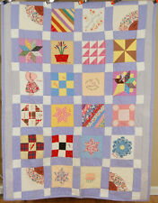 CHEERY Signed Vintage 40's Sampler Friendship Antique Quilt ~BIRTHDAY CAKE!