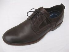 Rockport Mens Shoes NEW $100 Wynstin Plain Toe Oxford, Dark Brown Leather 10 M
