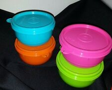 Tupperware Ideal Snack  Bowl 8oz. Container Set 4   New