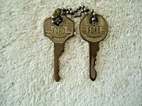"""Vintage Set Of 2 Ford Keys """" GREAT COLLECTIBLE USEABLE ? ITEMS """""""