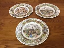 3 Wedgewood Williamsburg Jamestown Yorktown 10 1/2� Plates - Excellent